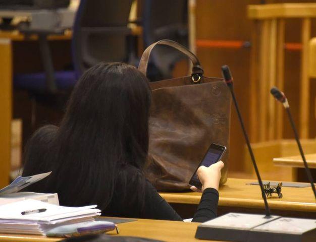 La transessuale peruviana vittima della violenza del branco era presente in tribunale (foto Migliorini)