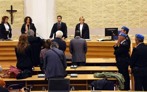 La lettura della sentenza (foto Migliorini)
