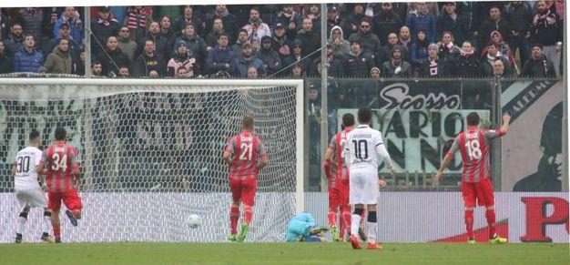 Il gol di Rispoli del Palermo 1-1