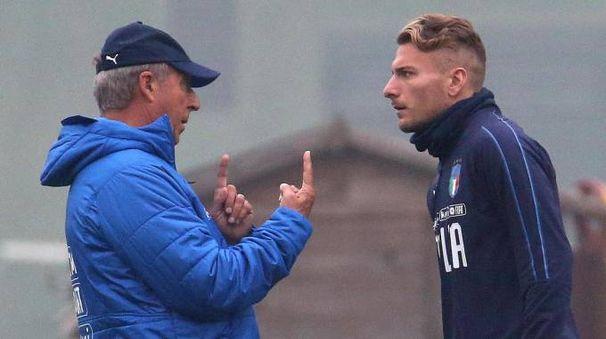 Italia-Svezia, l'allenamento degli azzurri a Milano (Ansa)