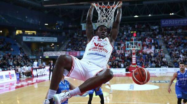 Omogbo nella partita contro Brindisi (Fotoprint)