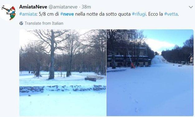 Neve, le foto sui social (@Amiataneve)