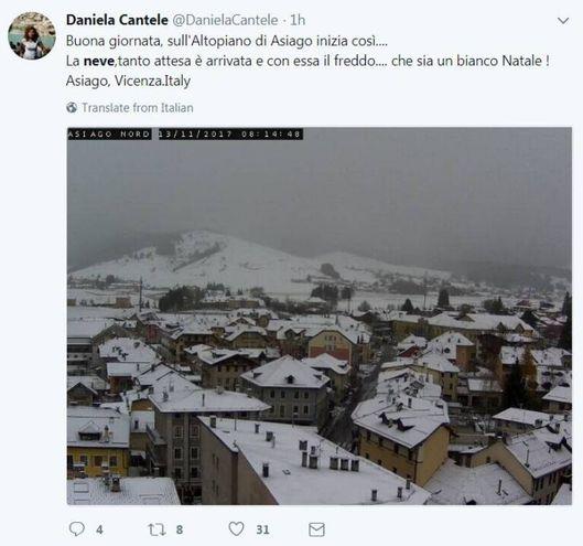 Neve, le foto sui social (@DanielaCantele)