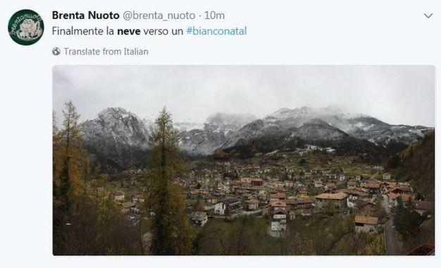 Neve, le foto sui social (@brentanuoto)