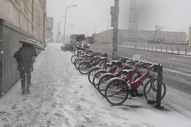 Neve a Bologna (Ansa)