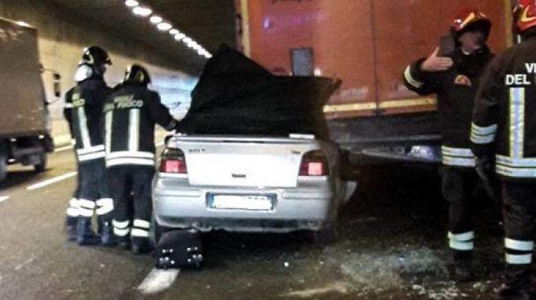Il luogo dell'incidente in A1 tra Impruneta e Scandicci (Germogli)