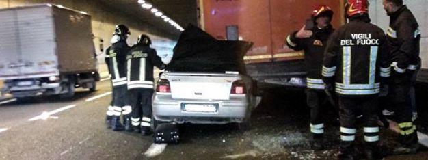 L'incidente in galleria tra Impruneta e Scandicci sull'A1 (Foto: Germogli)