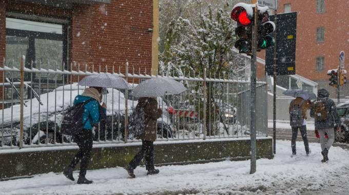 Previsioni meteo, pioggia e neve (foto Dire)