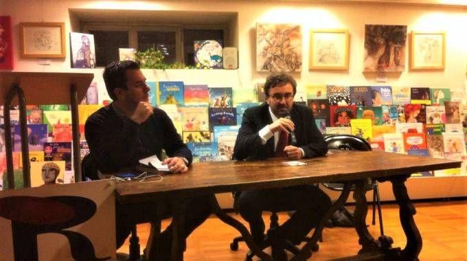 Peronaci e il giornalista Pierantozzi