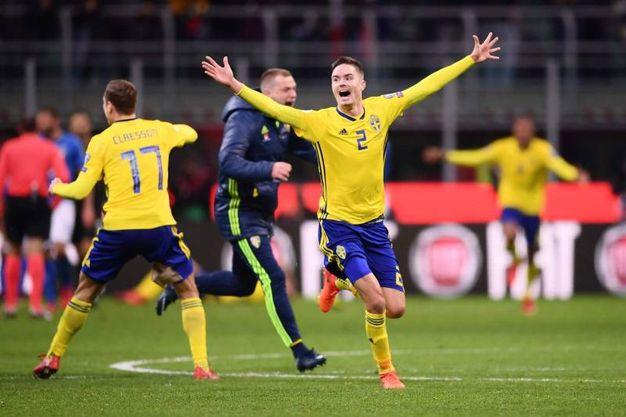 La gioia degli svedesi (Afp)