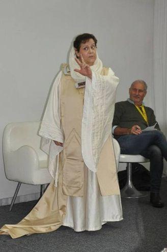 Paola Martinelli di Bologna, con il doppiatore Fabrizio Pucci (Foto Concolino)