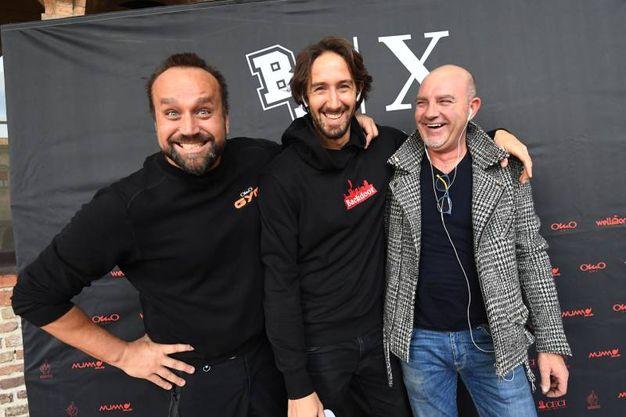 Da sinistra Giorgio Omoboni, Marco Evangelisti e Dino di Neropaco (fotoSchicchi)