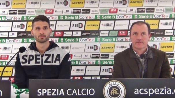 Il portiere Nicolò Manfredini e il direttore sportivo Gianluca Andrissi