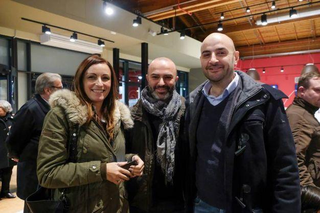 Lucia Borgonzoni, Massimo Bugani e Gian Marco Be Biase (foto Schicchi)