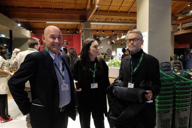 Andrea Riffeser Monti, Stefania Dal Rio e Roberto Grandi (foto Schicchi)