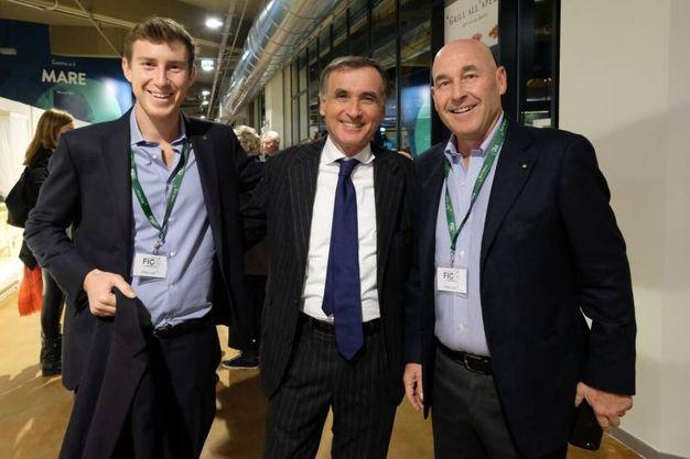 Bruno Riffeser Monti, Claudio Sabatini e Andrea Riffeser Monti (foto Schicchi)