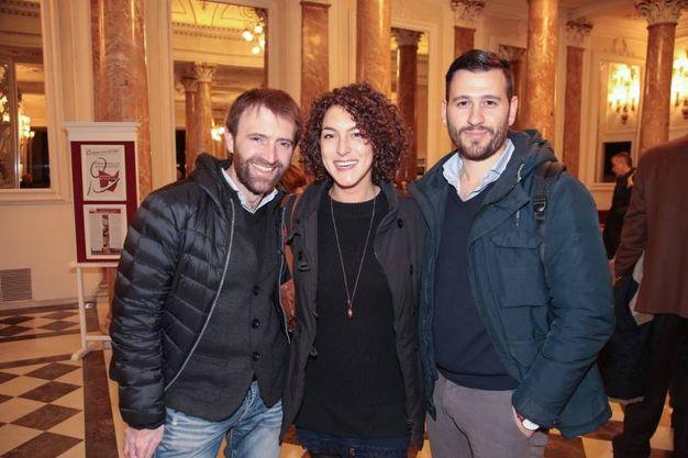 Alessandro Bezzi, Eugenia Coppitz, Simone Teschioni (foto Giuseppe Cabras/New Pressphoto)