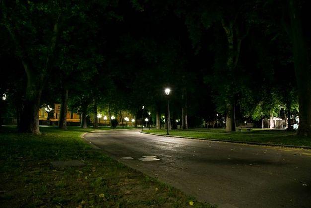 La Montagnola di notte (foto Dire)