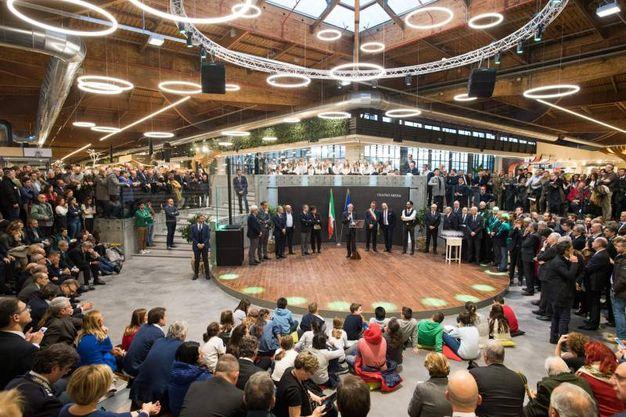 L'arena centrale durante l'inaugurazione (LaPresse)