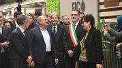Merola e Farinetti con il premier (foto Schicchi)