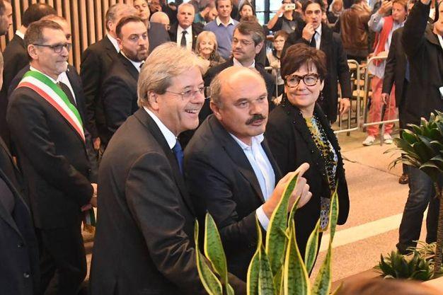 Gentiloni e Farinetti  (foto Schicchi)