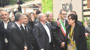 Il giro inaugurale del premier  (foto Schicchi)