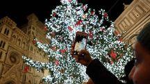 L'albero di Natale del 2016 (foto Giuseppe Cabras/New Pressphoto)