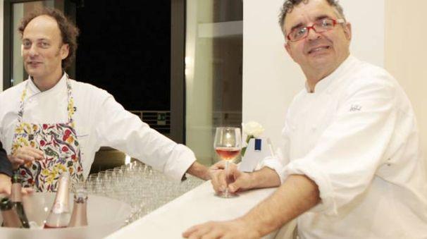 Gli chef Moreno Cedroni e Mauro Uliassi