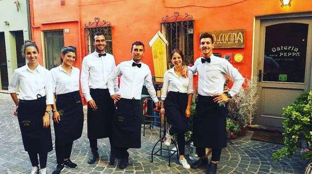 Lo staff dell'Osteria della Peppa