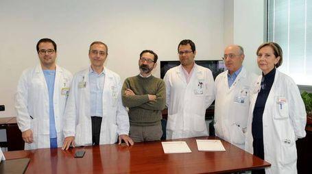 L'equipe di medici del Sant'Anna che hanno operato la paziente