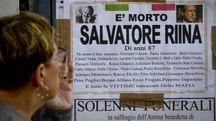 Totò Riina, il manifesto funebre apparso a Ercolano (Ansa)