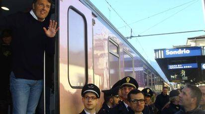 L'arrivo di Renzi a Sondrio (Orlandi)