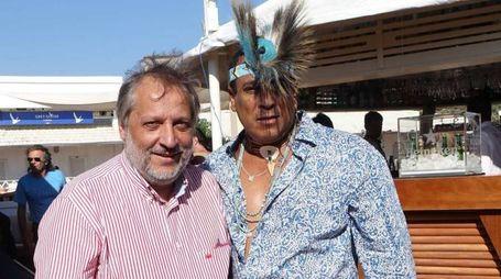 """Il direttore del Twiga, Mario Cambiaggio (a sinistra), ha concluso un accordo con """"La Cascina"""" di Montecatini"""