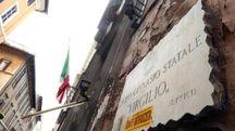 L'ingresso del liceo Virgilio si Roma (Ansa)