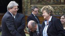 Pensioni, Paolo Gentiloni e Susanna Camusso (Ansa)