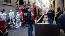 L'incendio in via Ginori (New Press Photo)