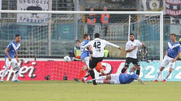 Brescia-Spezia, il gol di Ammari (FotoLive)