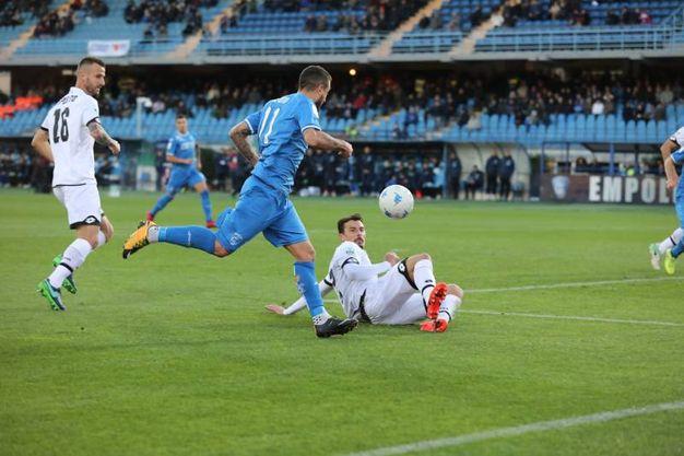 Il gol di Caputo al 27' s.t. (foto Germogli)
