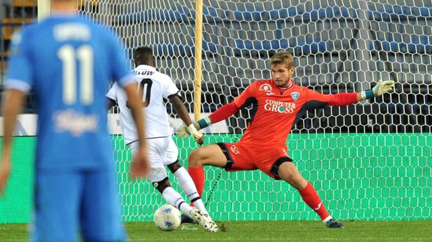 Il gol di Jallow: 5-2 (foto LaPresse)