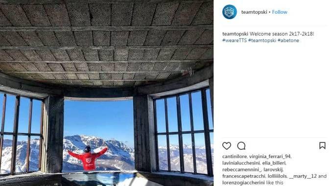 Una delle foto postate su Instagram