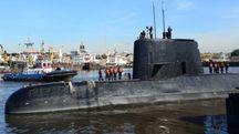 Il sottomarino argentino San Juan, disperso nell'oceano con 44 a bordo (Afp)