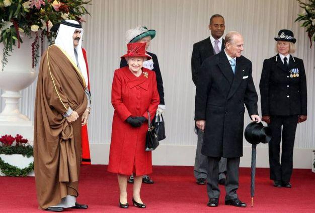 Nel 2010 con l'emiro del Qatar Sheikh Hamad (LApresse)