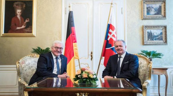 Incontro a Bratislava fra i presidenti slovacco e tedesco