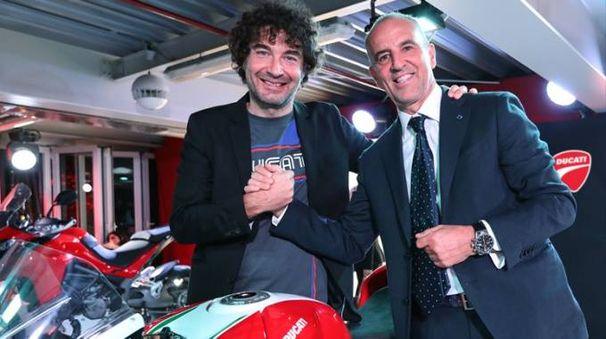 Marco Mantovani, presidente di Locman  (a destra), con Alessandro Cicognani  di Ducati
