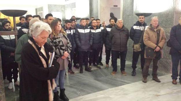 La 65 Futa ha fatto visita al sacrario di Marzabotto per rendere omaggio alle vittime degli eccidi nazisti (Foto Giordo)