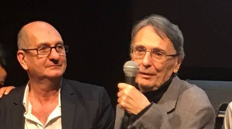 Il regista Cavallini e, a destra, Giorgio Antonucci