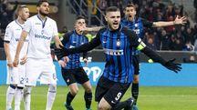 L'esultanza di Icardi e dell'Inter (Lapresse)