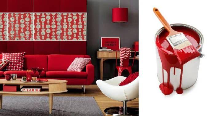 Il colore rosso nella decorazione di interni
