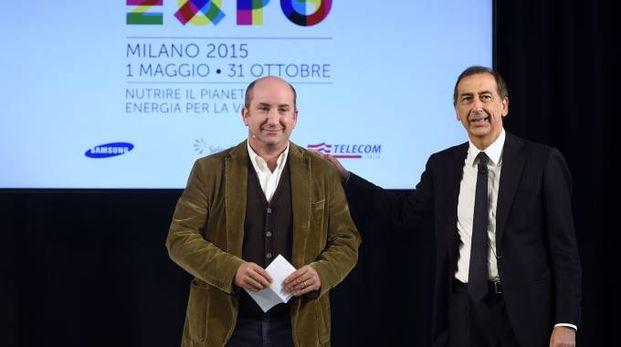 Giuseppe Sala e Antonio Albanese presentano la campagna di comunicazione Expo