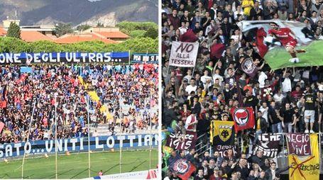 Le tifoserie di Pisa e Livorno